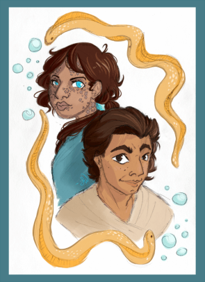 Hexiphines and Kourrania, siblings of the sea