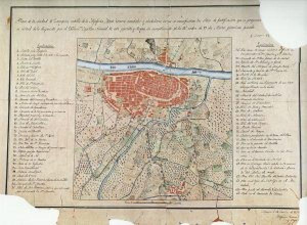 Plano de Zaragoza 1835 Gironza