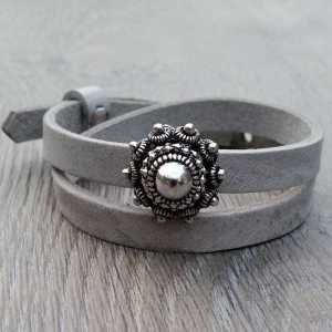 Leren Armband Ava met zeeuwse knop