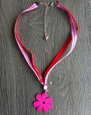 Ketting Tina roze rood