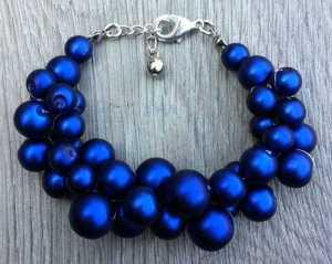 Teresa mat blauw