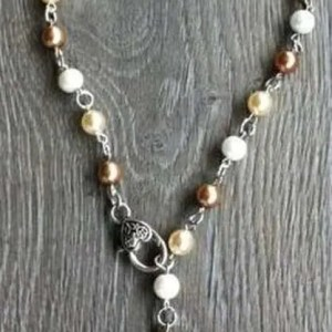 Ketting Peggy donker champagne