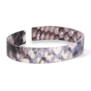 Trendy armband resin loose fit snake matt Blue-brown (11mm)