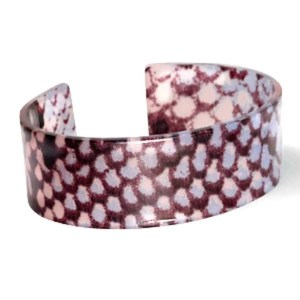 rendy armband resin loose fit snake shiny Blue-brown (22mm)