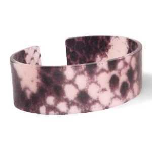 Trendy armband resin loose fit snake matt Blue-brown (22mm)