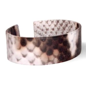 Trendy armband resin loose fit snake matt Brown-grey (22mm)