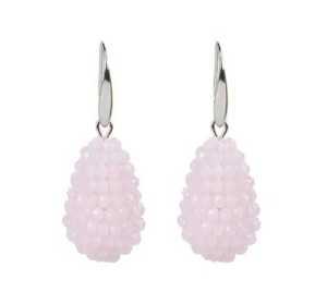 Kegel oorbellen Karen licht roze