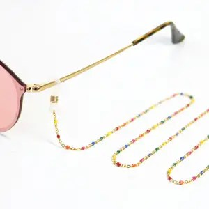 Zonnebril koorden van Roestvrij staal (RVS) Multicolour-goud