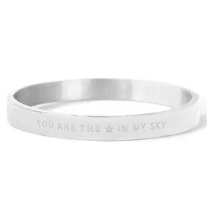 YOU ARE MY STAR IN THE SKY 8mm ZILVER