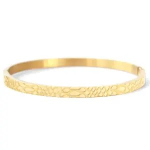 Roestvrij stalen (RVS) Stainless steel armbanden snake (4mm) goud