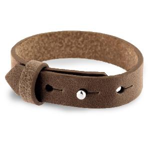 Verstelbare heren armband 15mm Alcazar brown