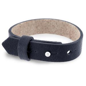 Verstelbare heren armband 15mm Indigo blue