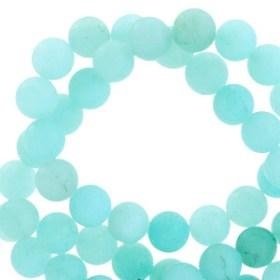 Halfedelsteen Jade mat Tropical blue