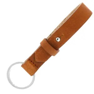 Leren sleutelhanger leer 15 mm Saddle Brown