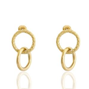 RVS oorbellen/oorstekers ringen Goud