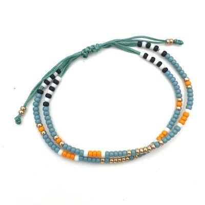 Dubbele Ibiza Armband van miyuki kraaltjes
