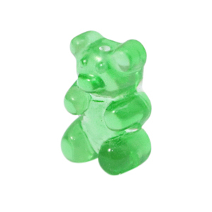 Resin hangers gummi bear Green