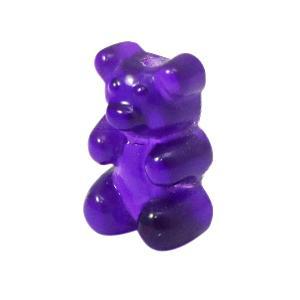 Stainless Steel Initiaal Ketting gummi bear Purple