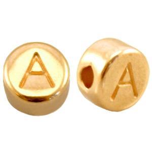 metalen gouden letter kraal