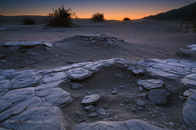 Twilight on Death Valley's playa.