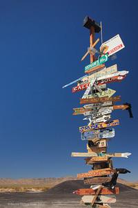 Mojave Desert cross roads sign