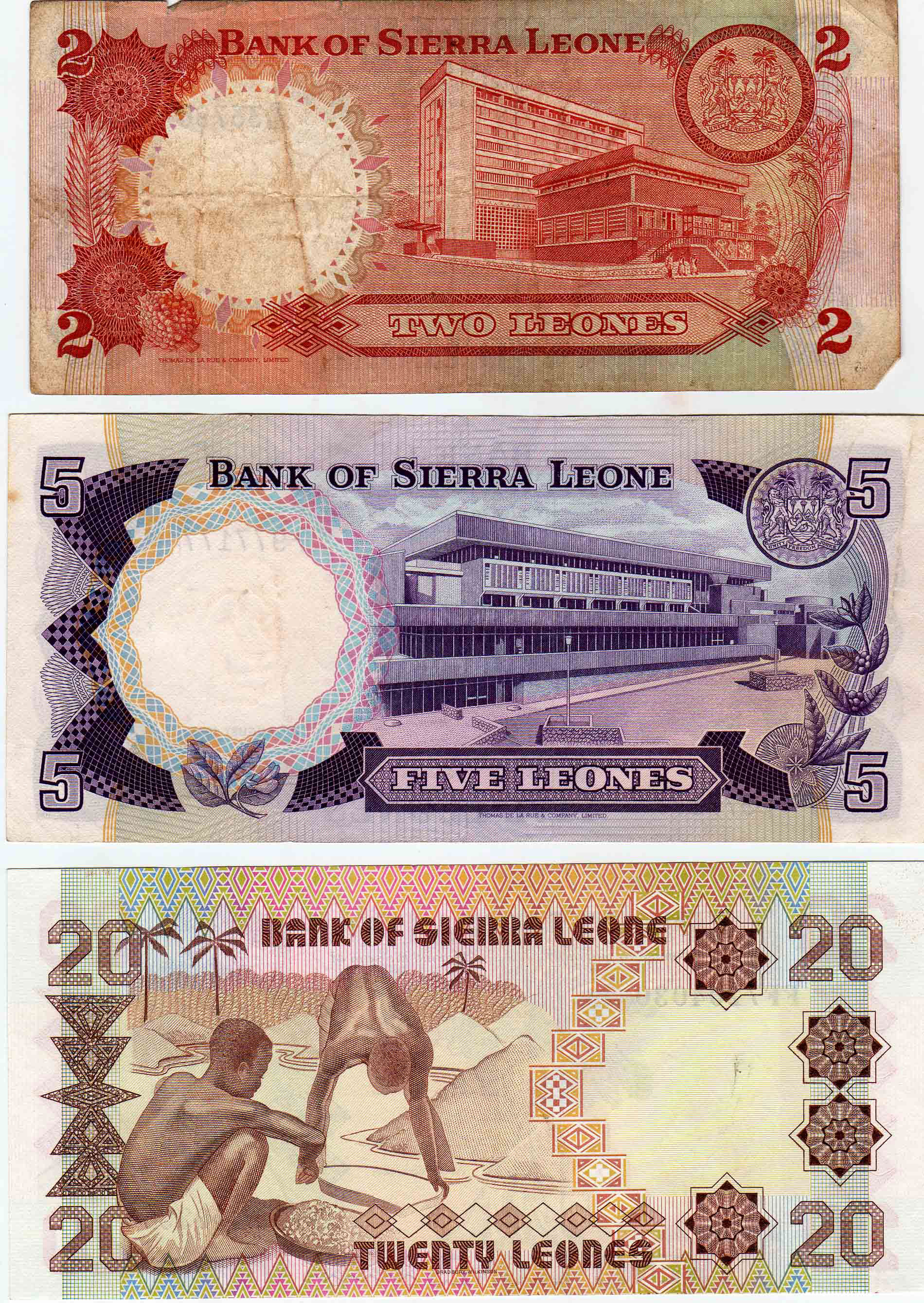 Sierra Leone Web Historic Currency And Coins From The
