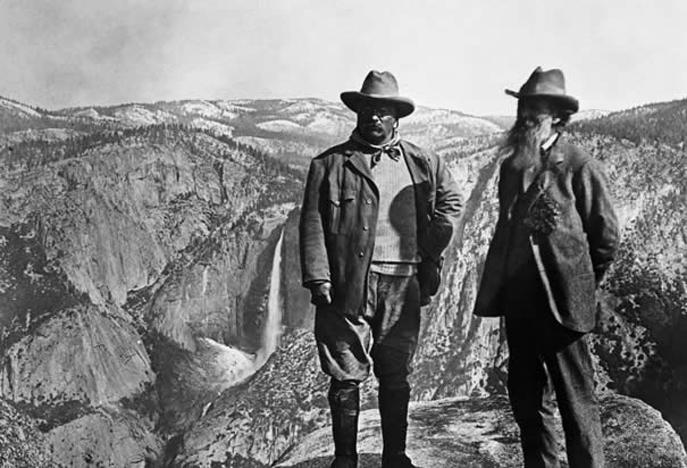 Theodore Roosevelt and John Muir in Yosemite