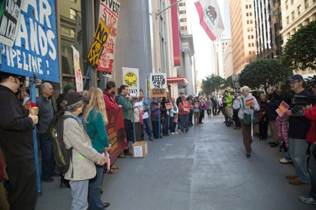 Sierra Club divestment rally at Wells Fargo
