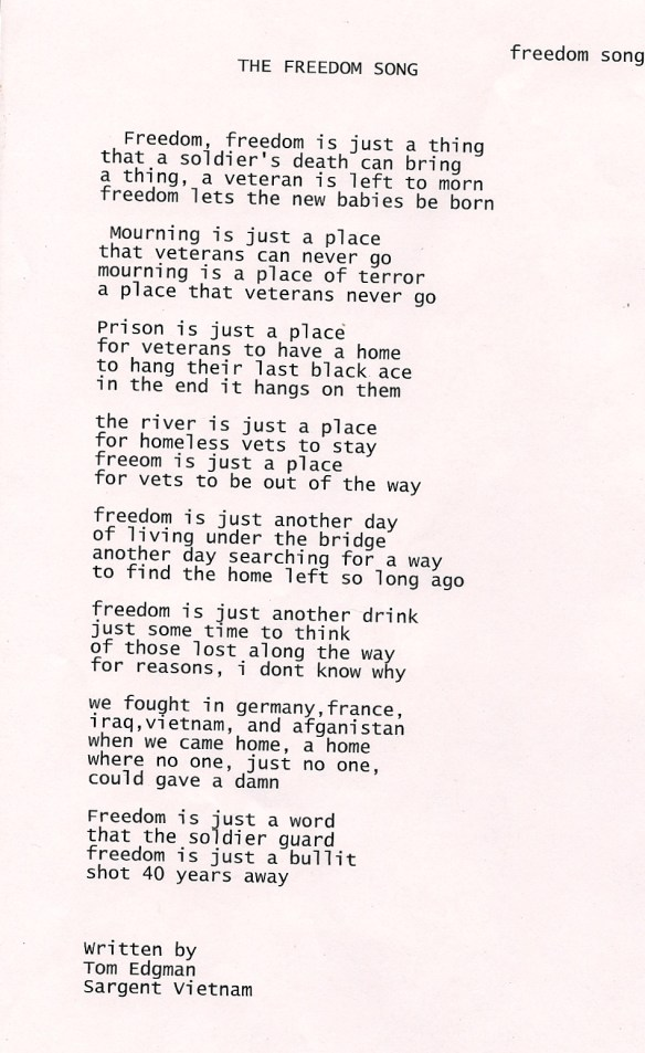 Freedom Song Poem