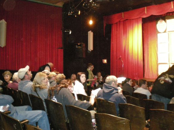 Threatre fills with family and friends