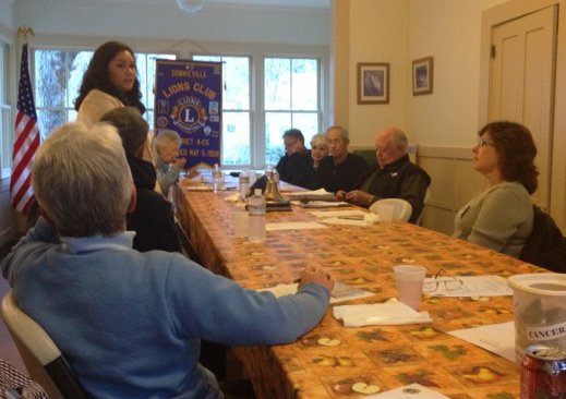 Candy Corcoran presentation to Downieville Lions Club.