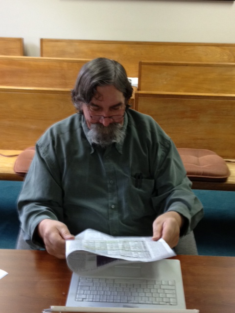 Don often spends days alone in the Sierra County Board of Supervisors Chambers hoping there might be a meeting. No one has given him the schedule and he figures he won't miss anything if he just waits till something happens.