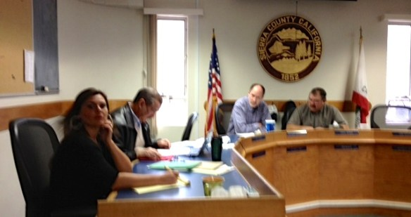 County Clerk Heather Foster, County Counsel Jim Curtis, Supervisor Lee Adams and Chair of the Board Supervisor Paul Roen