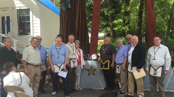 On May 26 the memorial star was officially dedicated at a Masonic ceremony that included 12 of the lodge's 19 members; Grand Master Perry and his and son, Nick; and Past Grand Master John L. Cooper III. Nearly 70 friends and family members from the Sierra City community were also present to recognize Smith.
