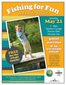 fishing for fun event flyer