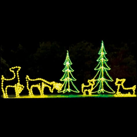 trees and deer display