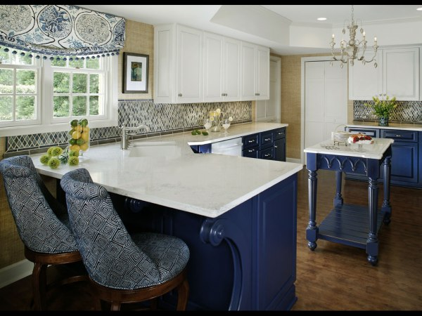 blue and white kitchen cabinet ideas Blue and White Kitchen Designing Tips | Home and Cabinet
