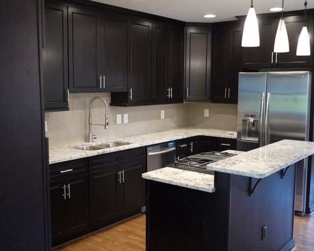The Designs For Dark Cabinet Kitchen Home And Cabinet
