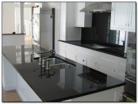 Kitchen with Black Countertops for Elegant Design | Home ...