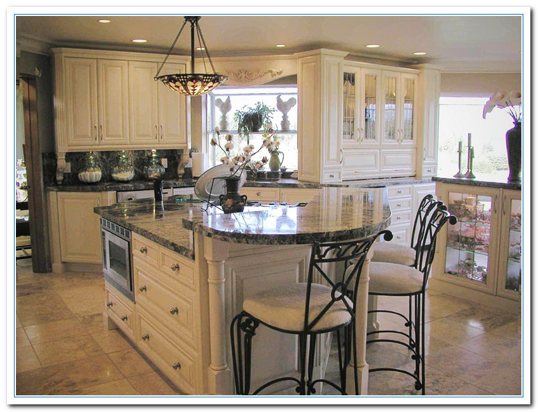 two tone kitchen island design concepts applying victorian designs for antique | home and ...