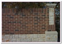 How to Build Brick Wall Fence Designs? | Home and Cabinet ...