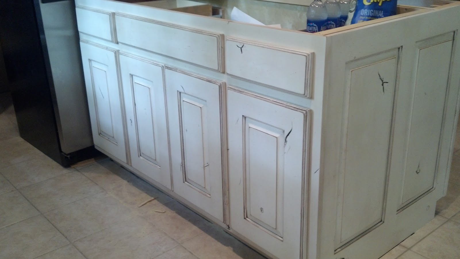 white distressed kitchen cabinets cabinet inserts country kitchens for traditional taste home and