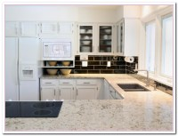 Working on White Granite Countertop for Luxury Kitchen ...