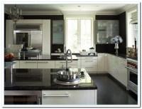 White Cabinets Dark Countertops Details