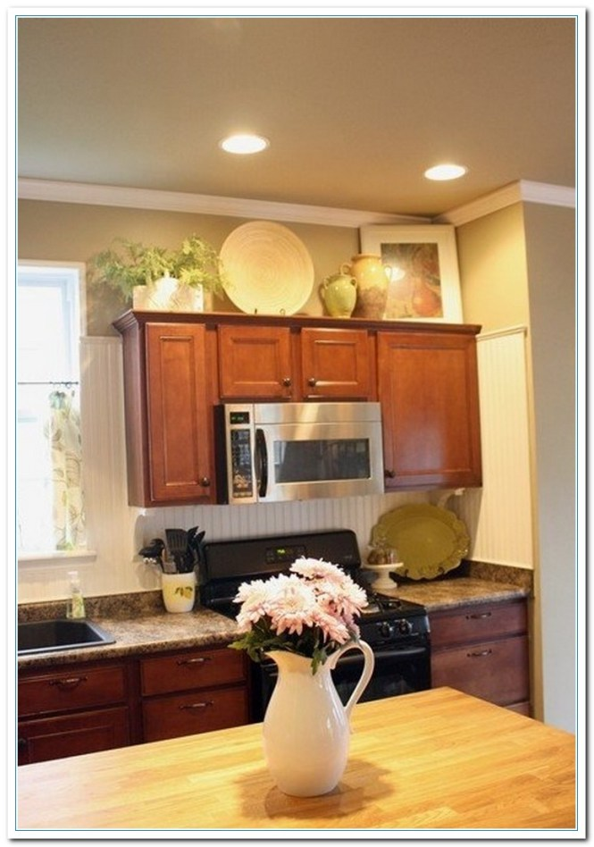 Inserts Kitchen Above Cabinets And Top Of Cabinet Decorative Accents Decorating