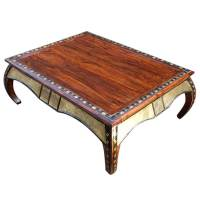 Wood Large Accent Occasional Cocktail Coffee Table