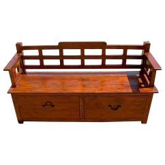 Wood Sofa Bed With Storage Frame Sectional Sofas Rustic Drawers Entry Way Long Bench