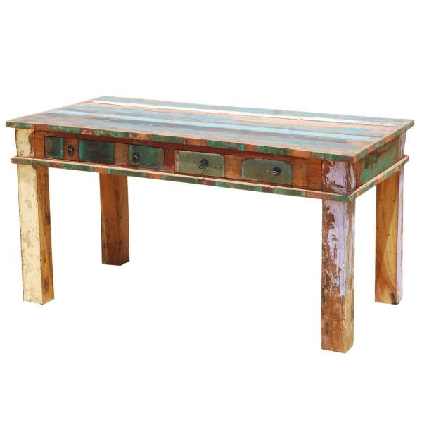 Distressed Reclaimed Wood Dining Table