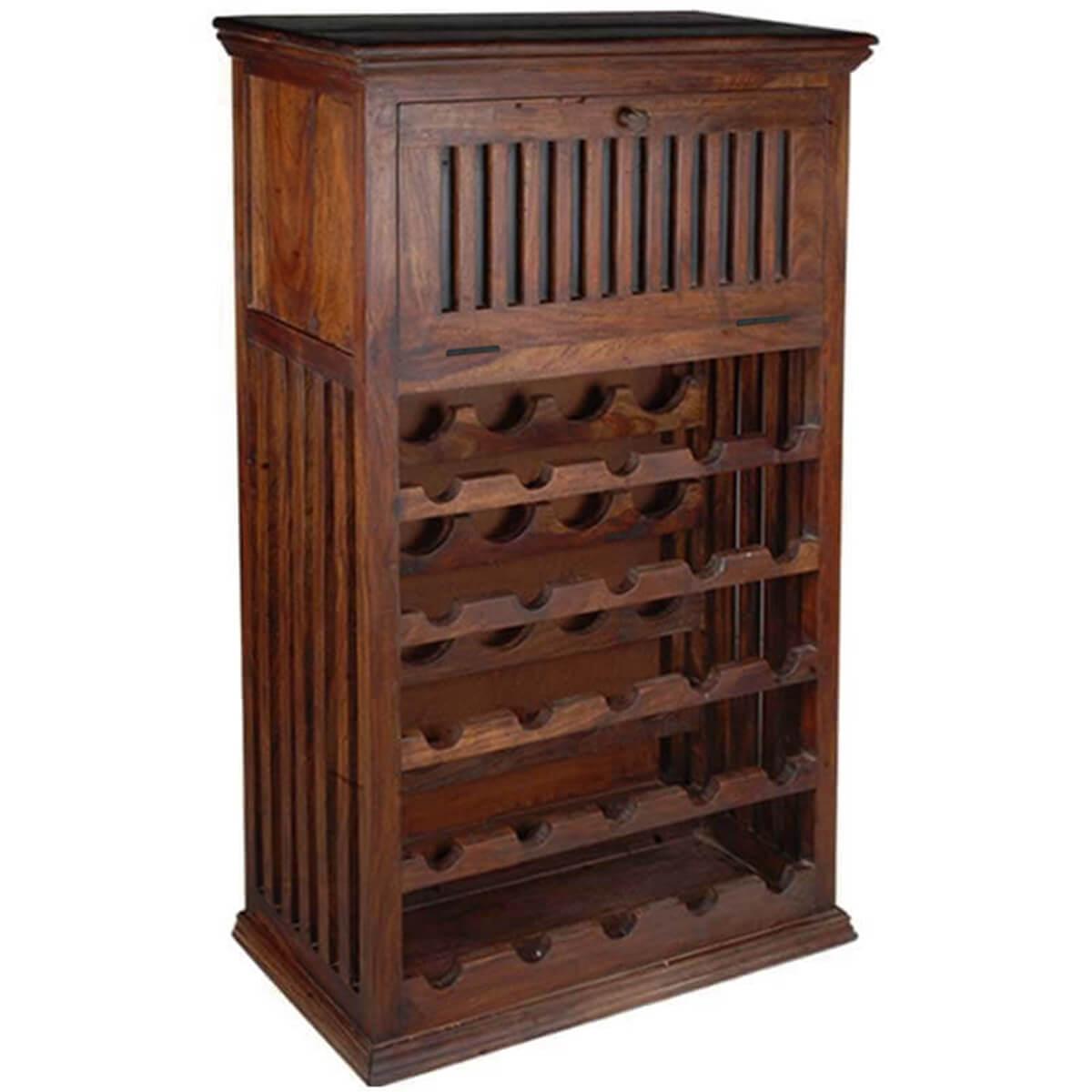 Haskins Solid Wood 25 Bottle Holder Wine Rack Storage Cabinet