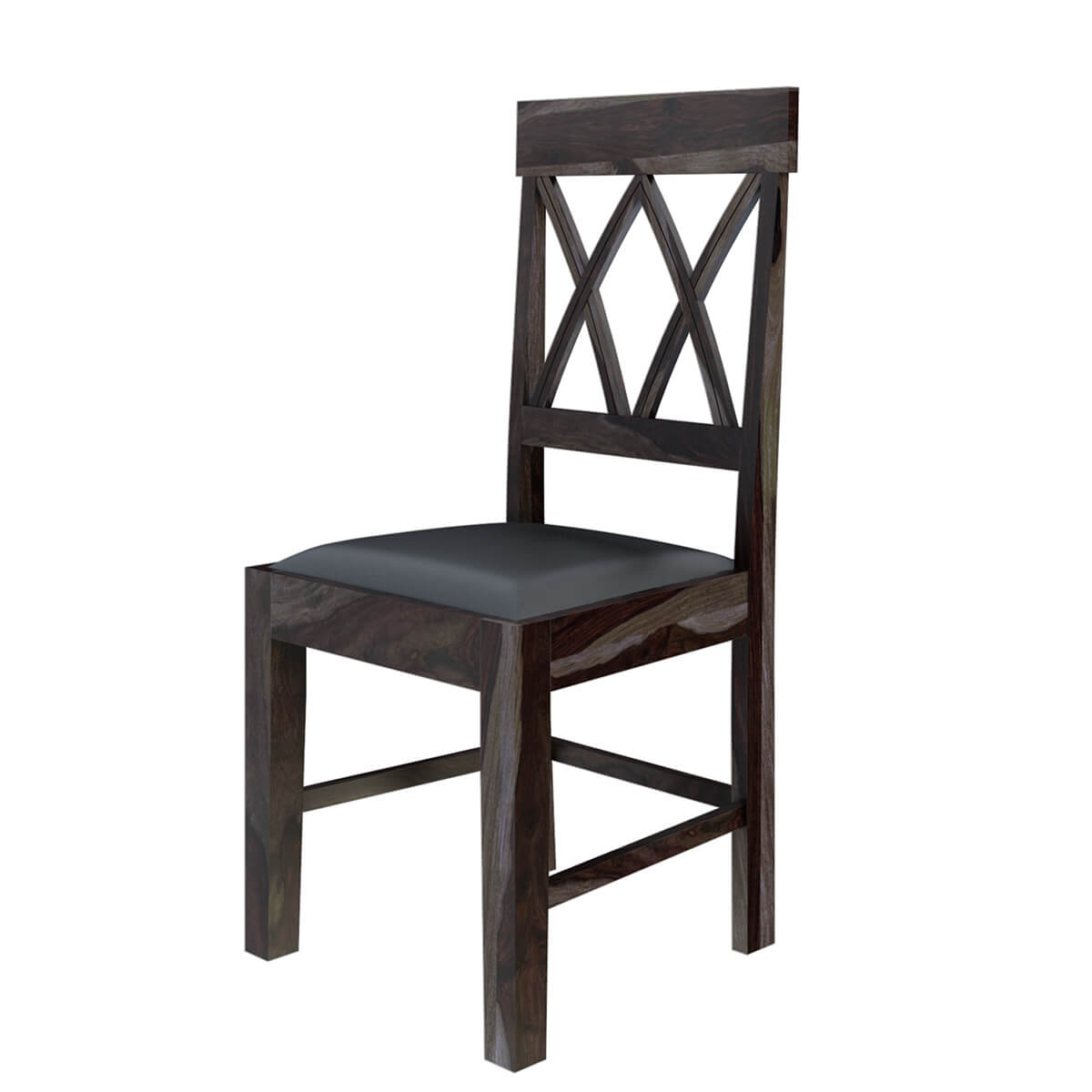 rustic dining chair portable wobble antwerp farmhouse solid wood pineapple back